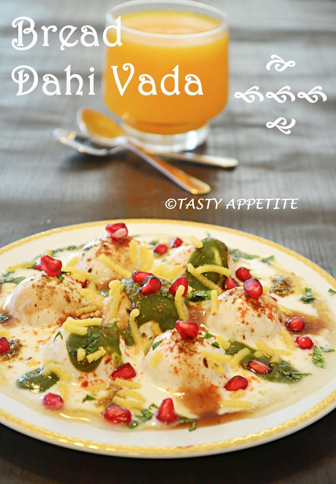 bread dahi vada recipe / easy snacks recipes / healthy snacks