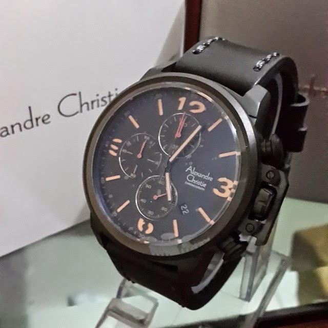 jam tangan alexandre christie 6280 full black