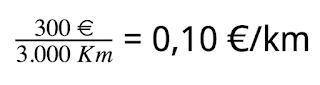 calculo del coste por kilómetro