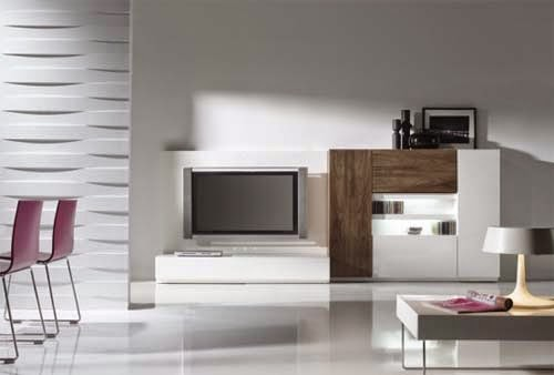minimalist living room with modern furniture