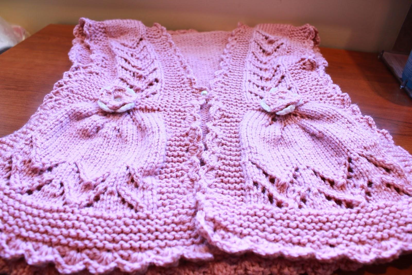 Vandyke Lace Knitting Pattern : Funky Girls Handmade Shop: Knit Pink Integrated Vandyke ...