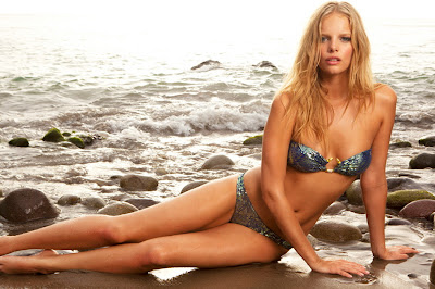 Marloes Horst Sauvage swimwear photoshoot