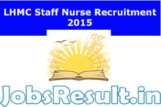 LHMC Staff Nurse Recruitment 2015