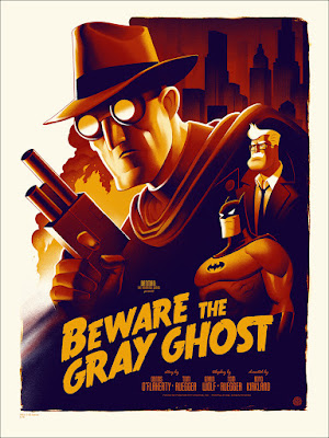 "Batman The Animated Series ""Beware the Gray Ghost"" Variant Screen Print by Phantom City Creative & Mondo"