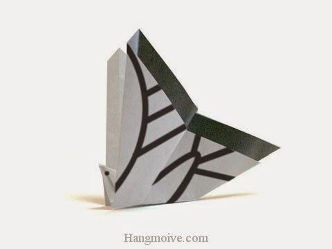 Cách gấp, xếp con bướm Swallowtail bằng giấy origami - Video hướng dẫn xếp hình côn trùng - How to fold a Butterfly