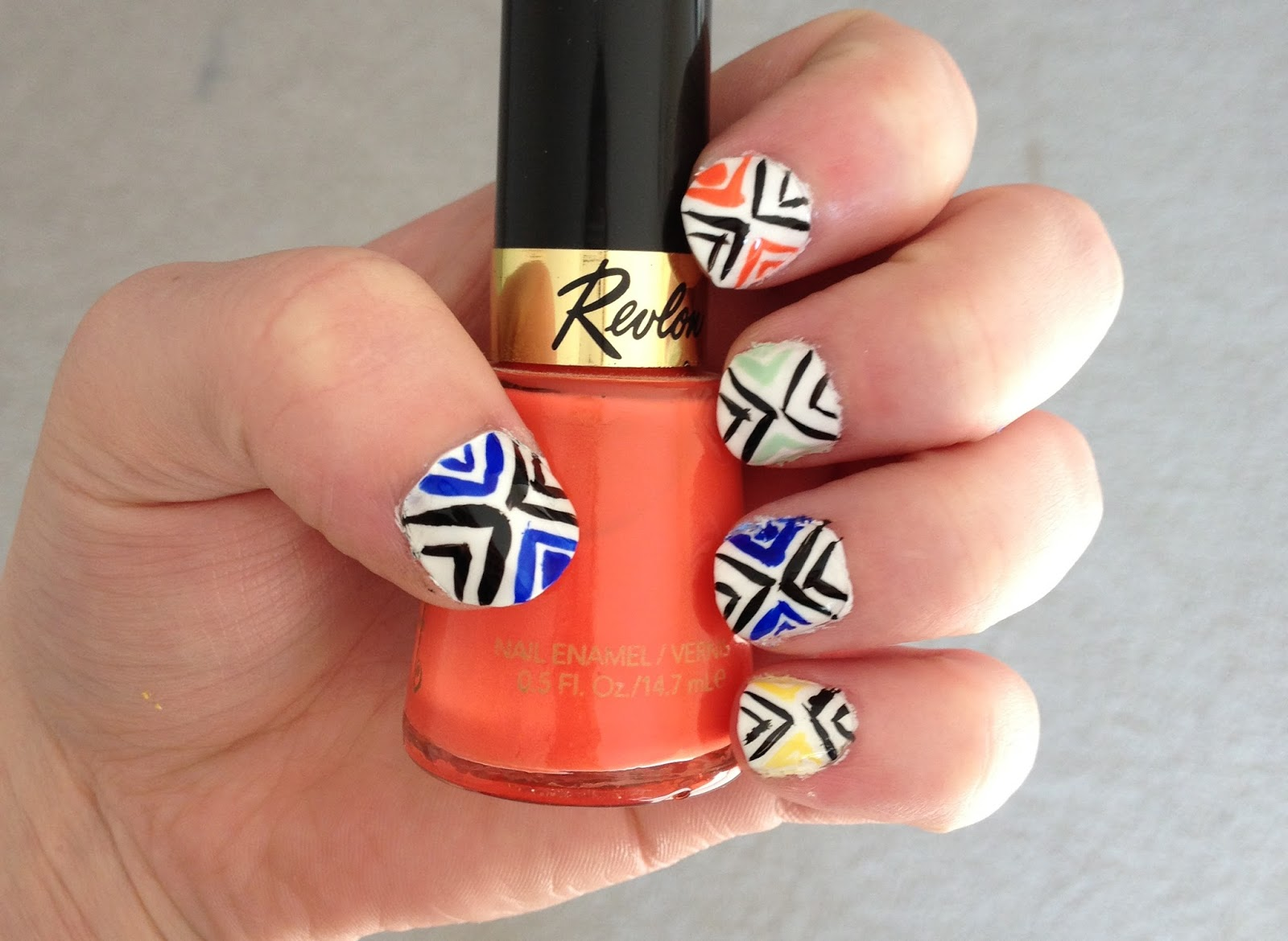 Britanys Beauty Easy Summer Nails Aztec Inspired Nail Art