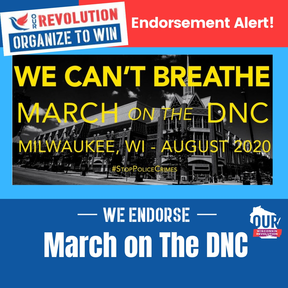 March on the DNC in Milwaukee