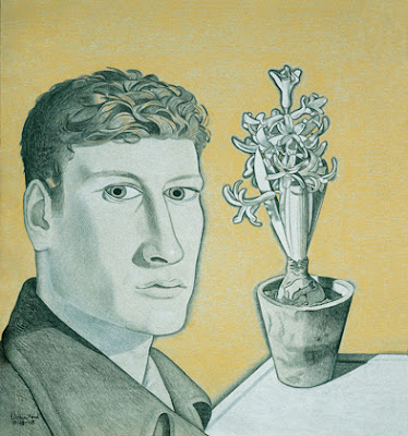Lucian Freud, Self-Portrait with Hyacinth in Pot, 1947-48,