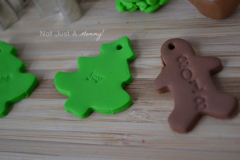 polymer clay gift toppers tree gingerbread man