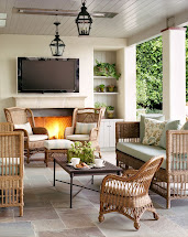 Screened in Porches with Fireplace and TV