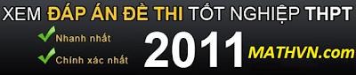 dap-an-de-thi-tot-nghiep-thpt-2011