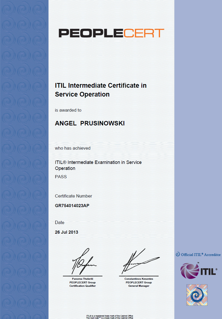 My itil life my itil service operation so certificate 1betcityfo Images