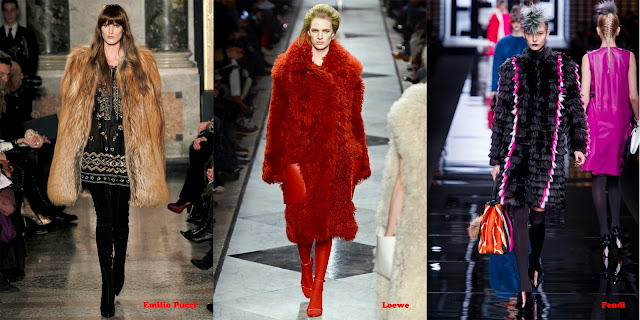 Tendencias mujer otoño/invierno 2013/14 abrigo pelo: Emilio Pucci, Loewe y Fendi