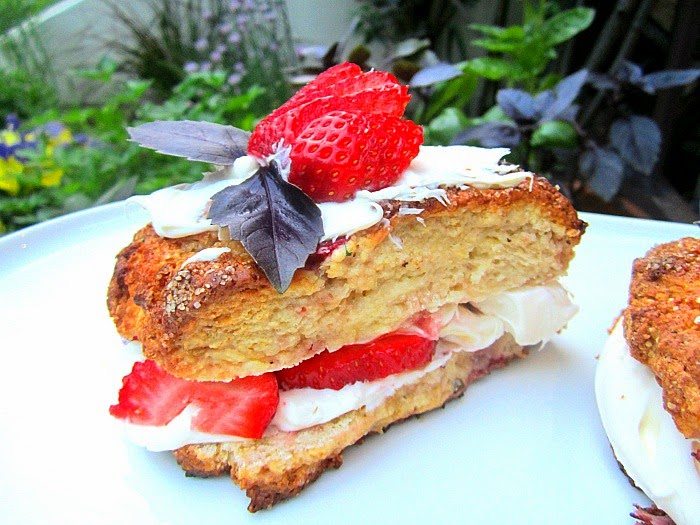 Stacey Snacks: Strawberry Basil Shortcakes w/ Mascarpone Cream