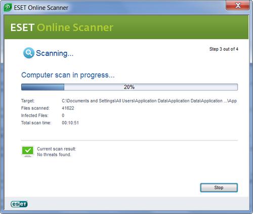 escaneamento antivirus eset nod32 online