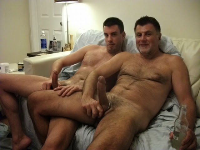 pictures of dads and sons naked