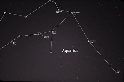 aquarius constellation with star labels