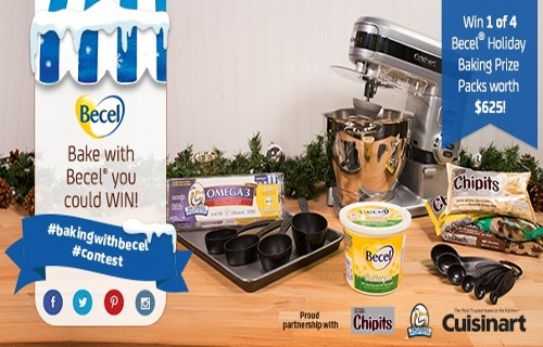 Bake with Becel Holiday Baking Prize Packs Contest