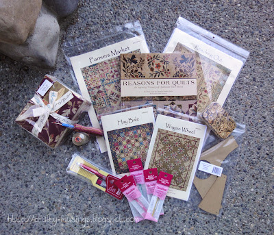 Laundry Basket Quilts giveaway treats... so awesome!