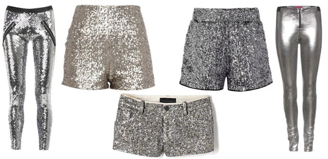 silver sequin bottoms - Leggings / Shorts / Mini Shorts / Shorts / Leggings