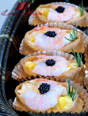 mango prawns inari age party food