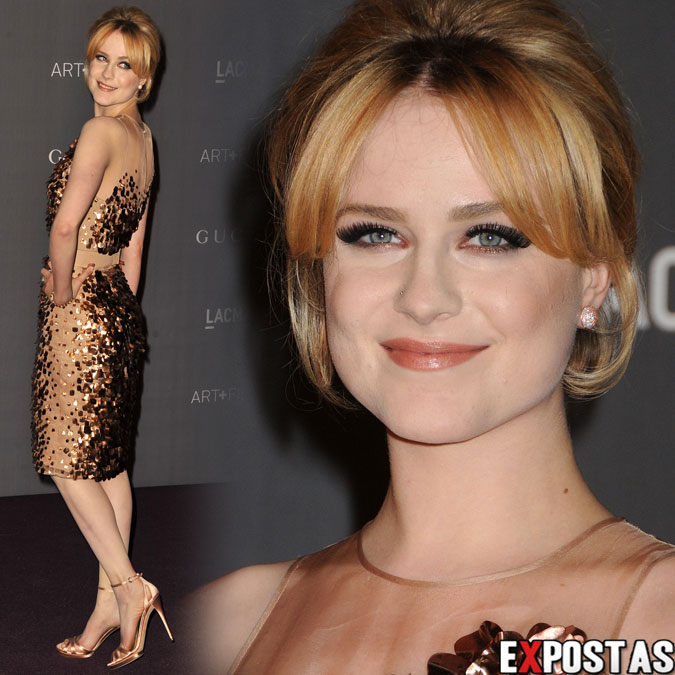 Evan Rachel Wood: LACMA Art + Gala em Los Angeles - 27 de Outubro de 2012