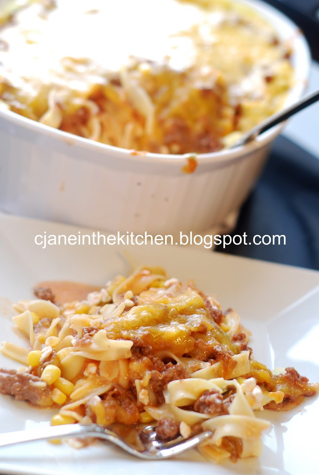 See Jane in the kitchen: Sour Cream Noodle Bake