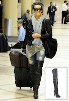 Kim Kardashian in Report Signature Fairfax Over the Knee Boot