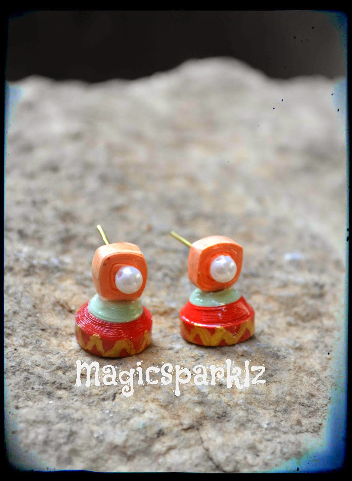 Cute quilled jhumka for kids