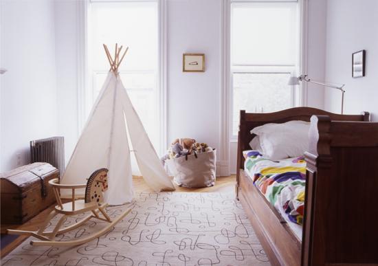 Tipi Tent Kinderkamer : Kids teepee tent kids room designs