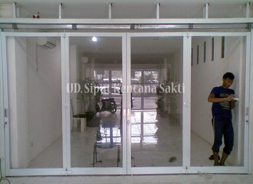 Contoh Project Pintu Lipat Aluminium