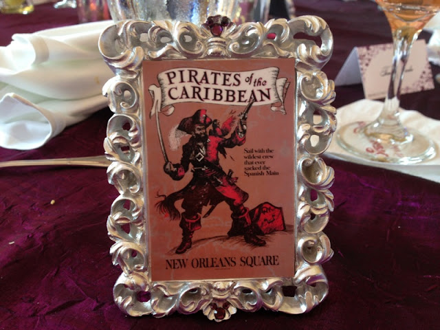 Disneyland Wedding - Pirates of the Caribbean table sign