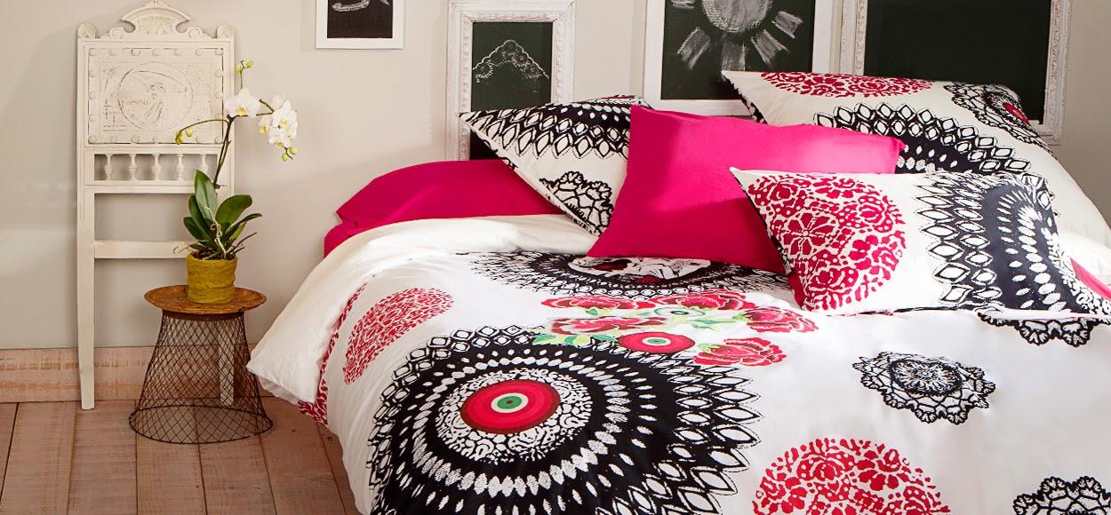 la cerise fait du shopping une vente priv e linge de maison desigual. Black Bedroom Furniture Sets. Home Design Ideas