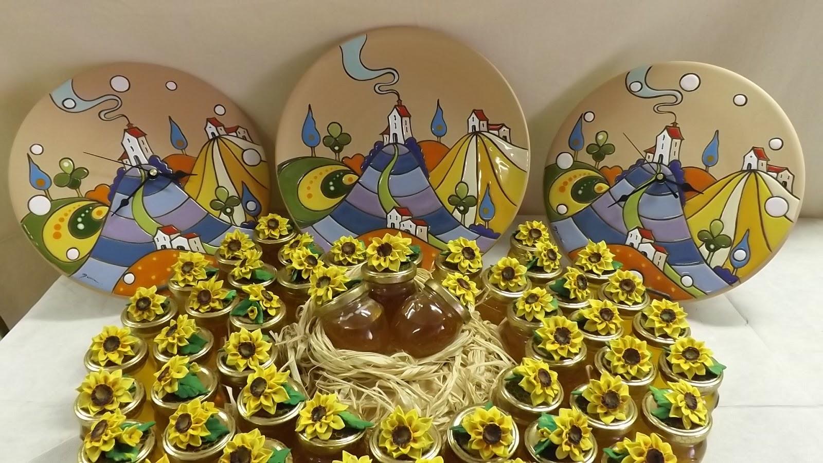 Bomboniere Girasoli Matrimonio : Ceramica come mestiere bomboniere girasole per matrimonio