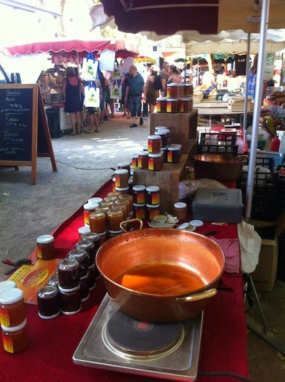Honey for sale in the local market in Collioure