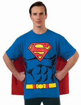 Superman costume t-shirt with cape