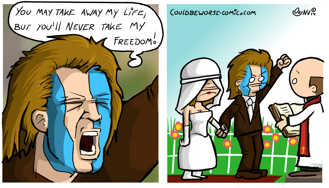Braveheart freedom wedding