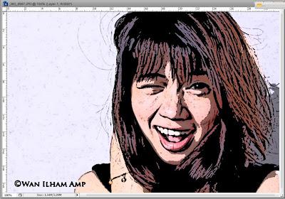 Cara Membuat Foto menjadi Efek Kartun Pada Photoshop