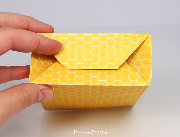 Fold bottom of gift bag and adhere | popperandmimi.com