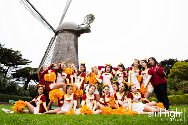 Abraham Lincoln High School Cheer Team photo by Still Light Studios, school sport photography and senior portrait in Bay Area