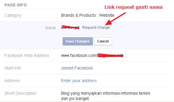 Bisa ganti nama facebook