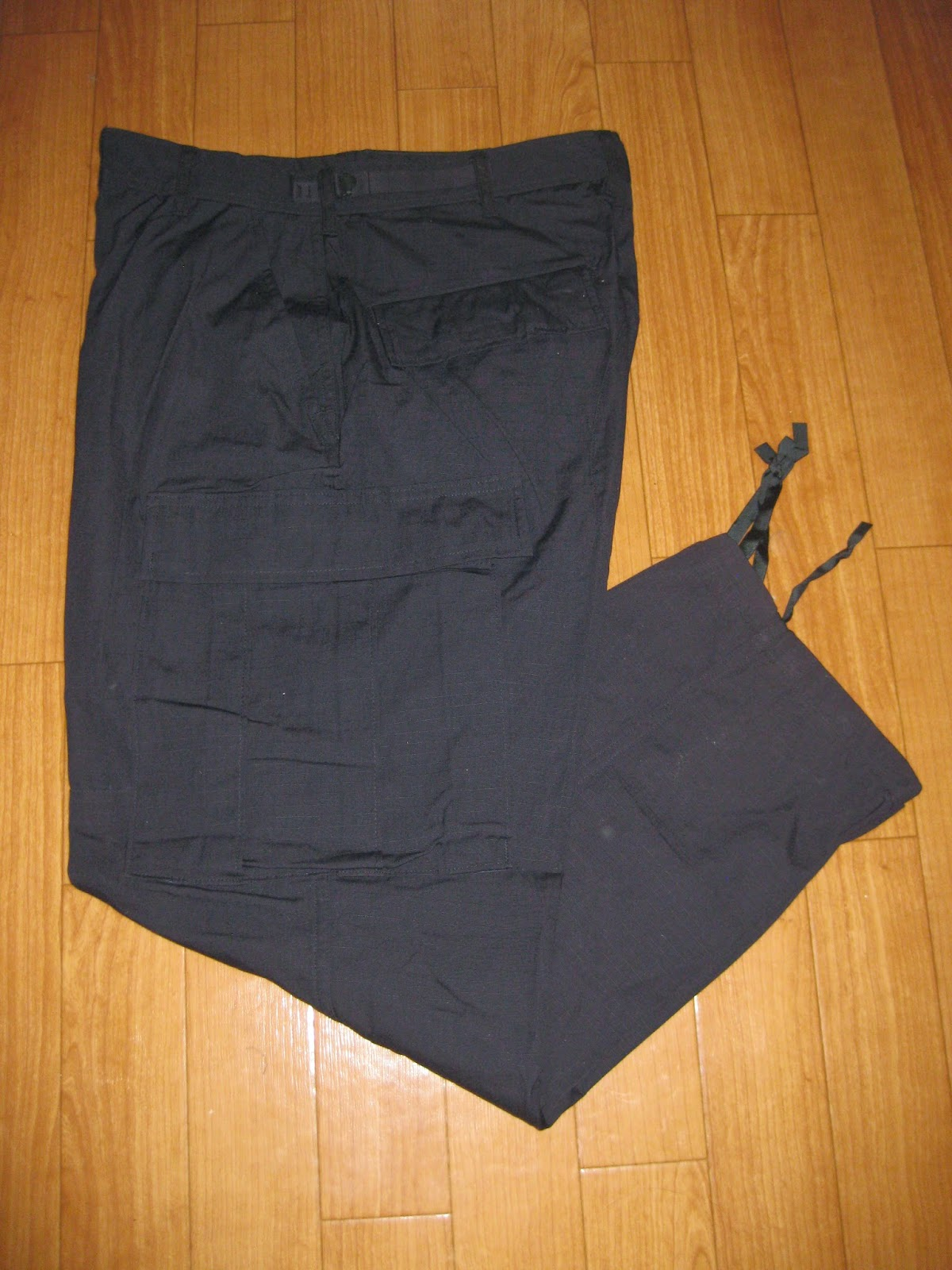 1997's DEAD STOCK        U.S.MILITARY          BLACK RIP-STOP        6 POCKETS PANTS