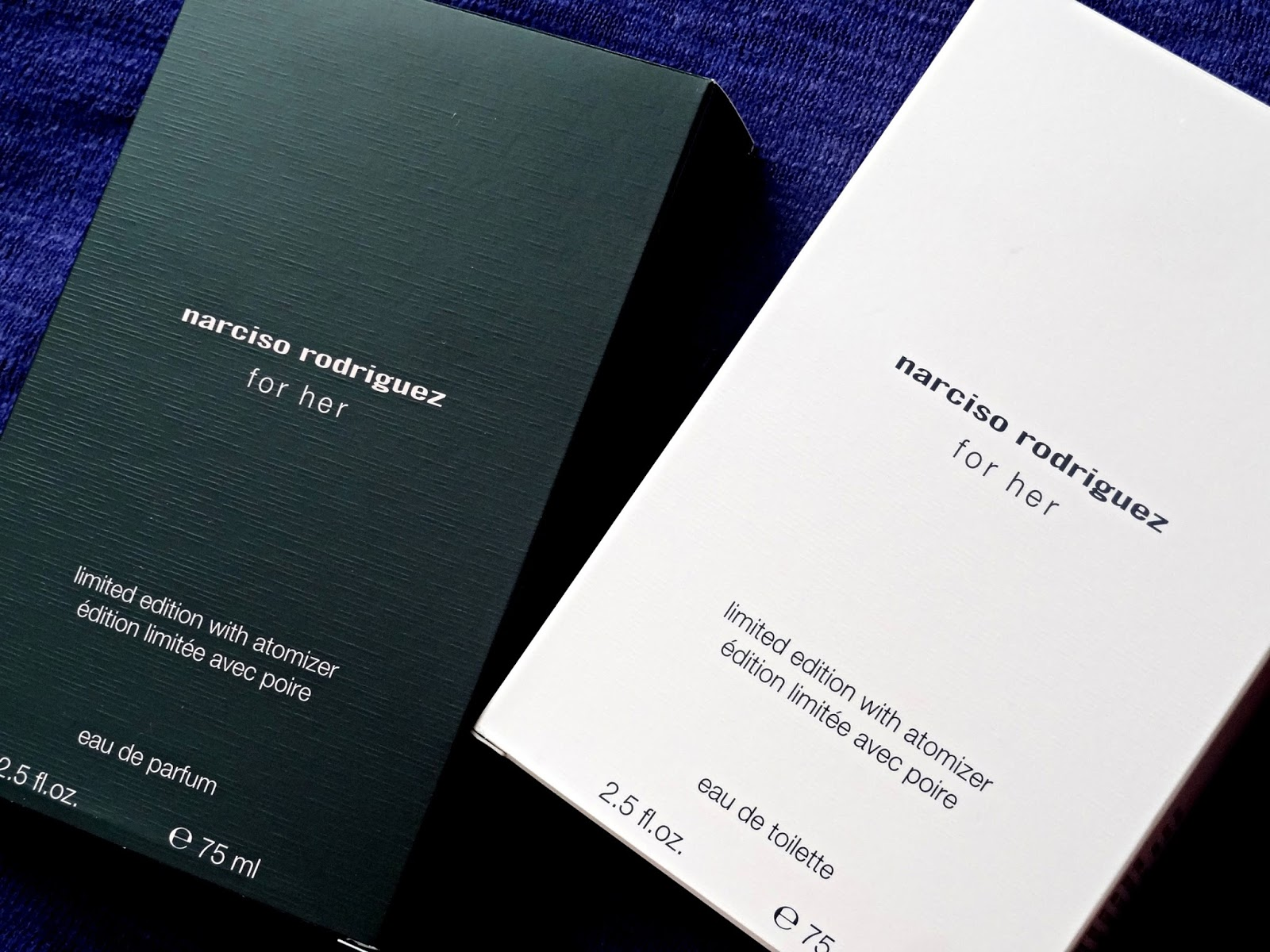 Narciso Rodriguez For Her Eau de Toilette and Eau de Parfum with Atomizer