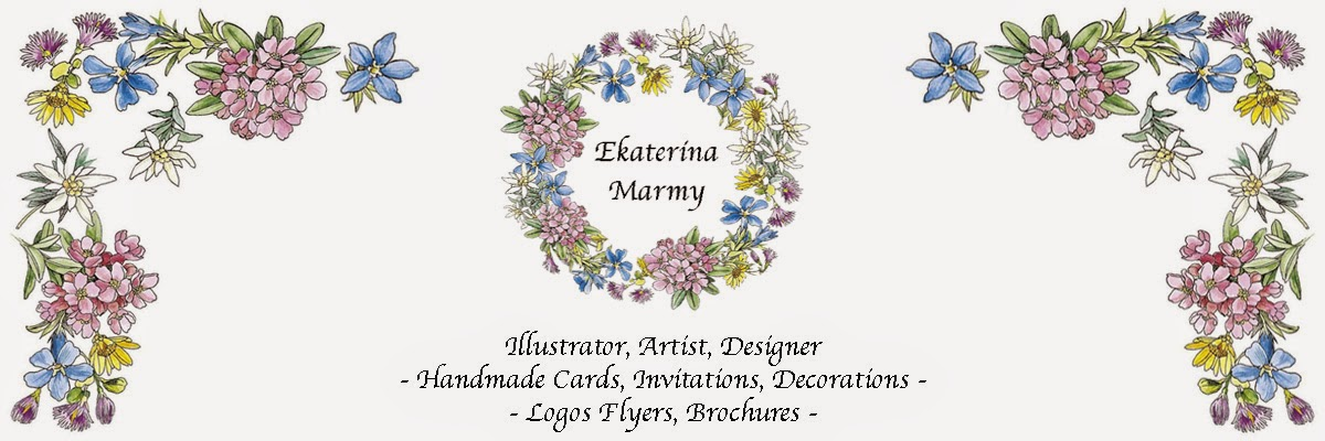 Handmade Cards and Decorations By Ekaterina Marmy