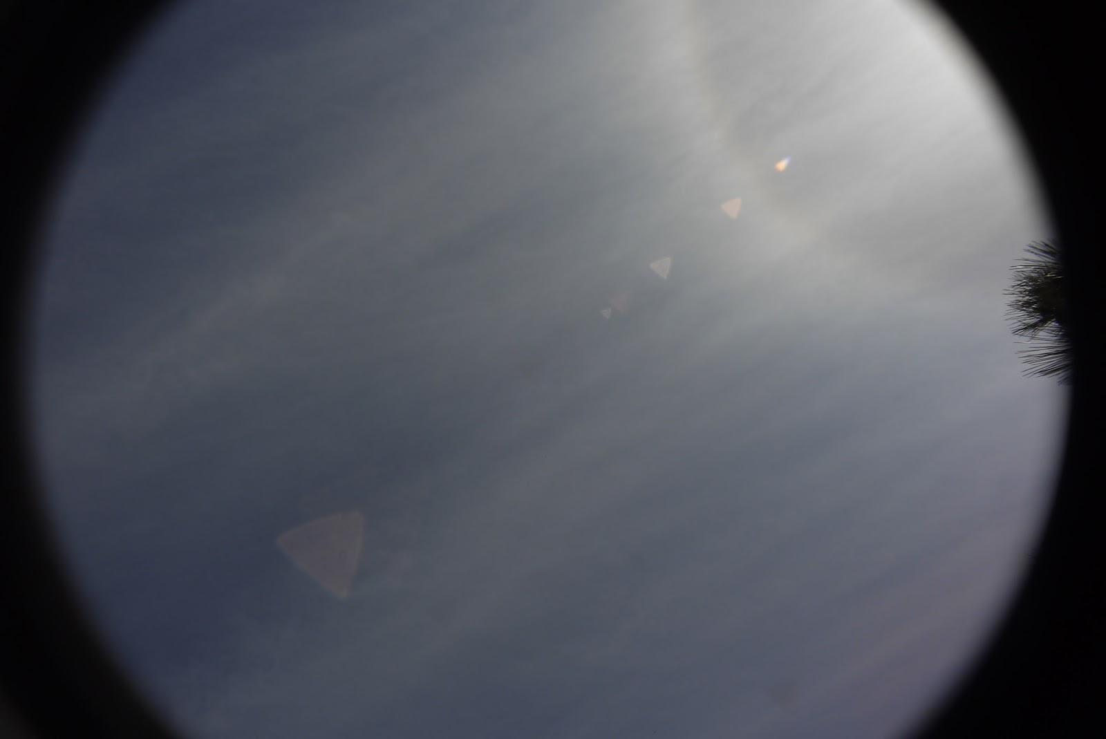 Tevidon 10/2 @11 - triangular lens flare (sun aside).