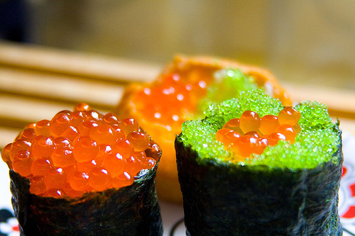 All about japanese menu food japanese menu sushi for Fish eggs on sushi