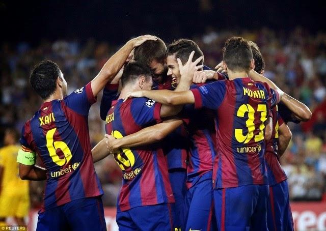 Hasil Catalan Super Cup 2014: Barcelona vs Espanyol 5-3 Adu Penalti