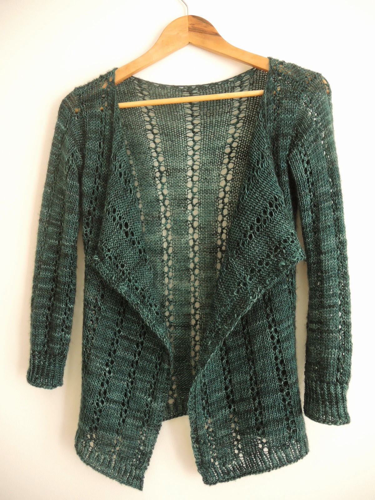 lace cardigan knitting pattern simple basic blanket front