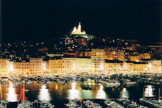 Marseille la nuit, Marseile le soir, Marseille illuminé