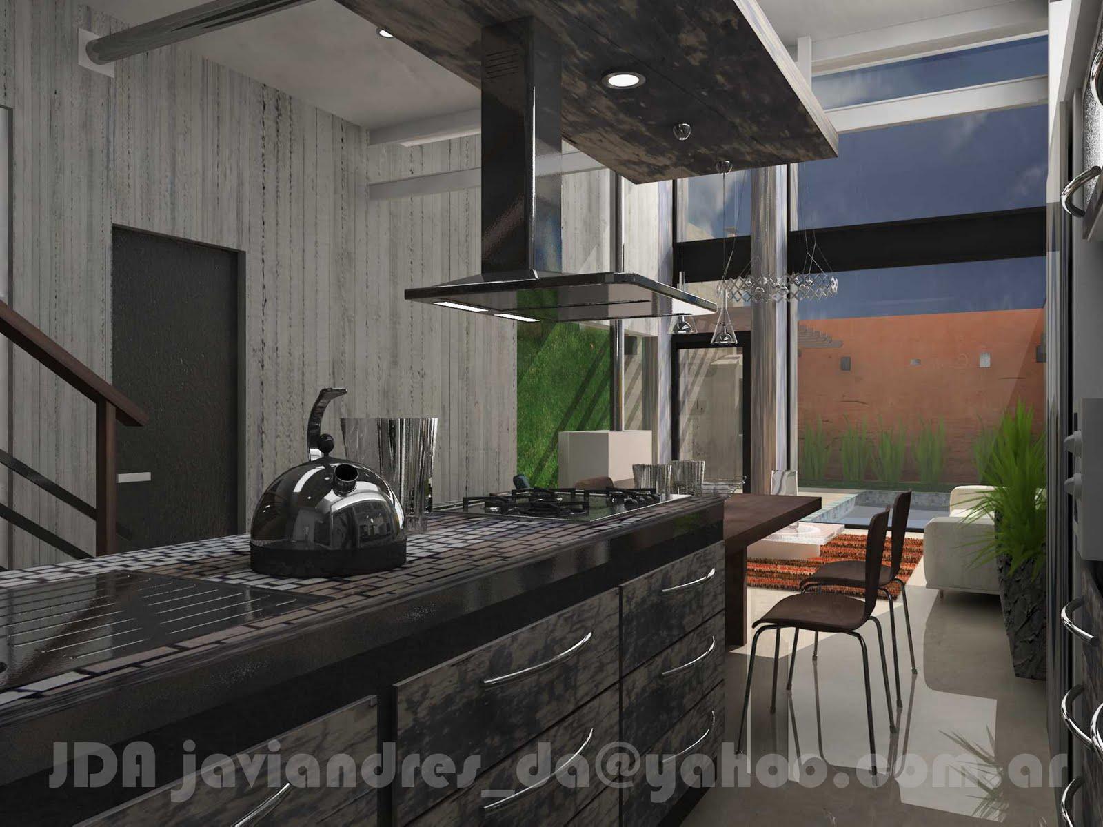 Arquitec maquetas dise o de interiores 3d r stico y urbano for Diseno interiores 3d